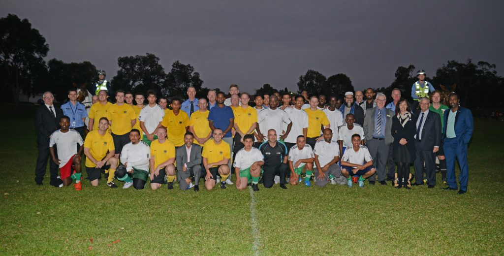 Group portrait at Common Goal Soccer Academy